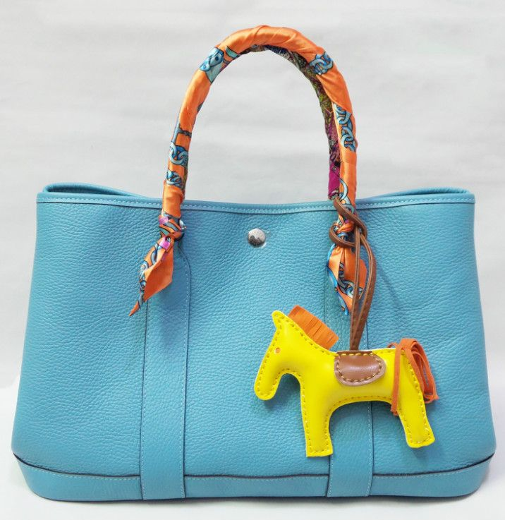 hermes garden party bag Light Blue Hermes Garden Party PM Tote ...