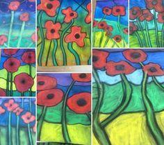 poppy art ideas elementary school - Google Search