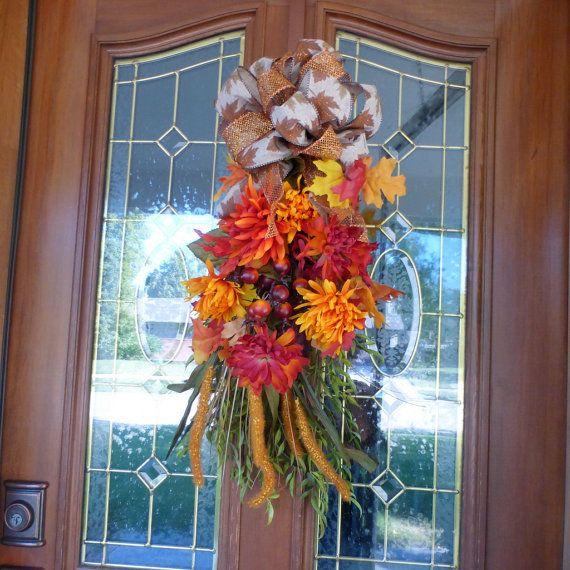 Autumn door swag  Thanksgiving Door Swags  by JulieButlerCreations