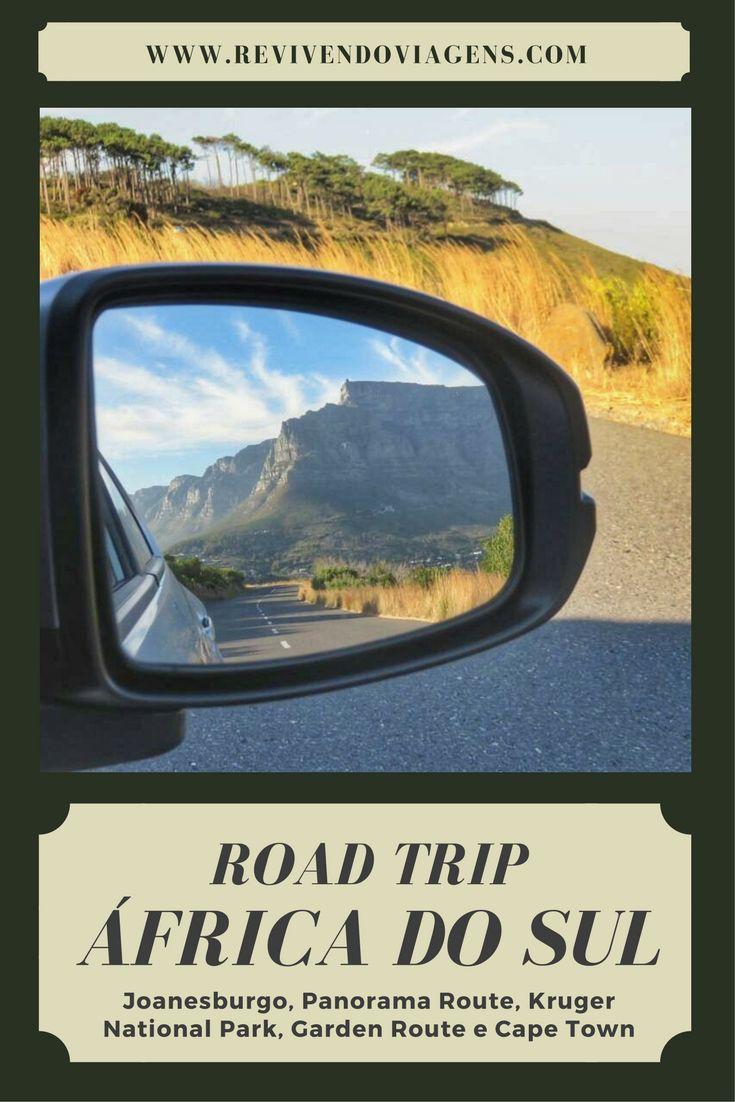 Roteiro de viagem de carro na África do sul. Joanesburgo, Panorama Route, safári no Kruger National Park, Garden Route e Cidade do Cabo - Cape Town. Road Trip Africa
