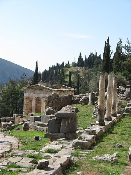 Site of the famous Temple of Apollo where the oracle of Delphi, the Pythia, prophecized. Loved my time in Delphi this is a must see place!