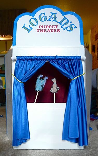 Duct Tape And Cardboard Puppet Theater