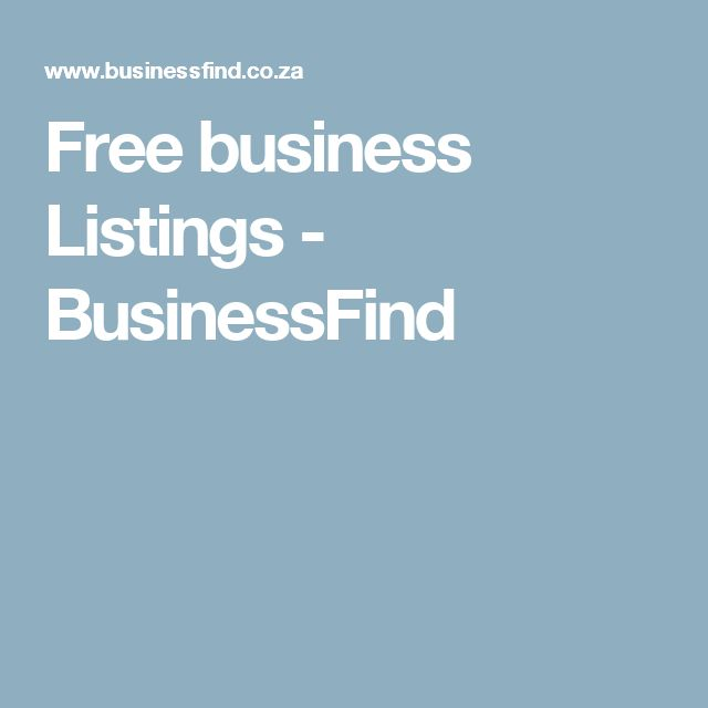 Free business Listings - BusinessFind