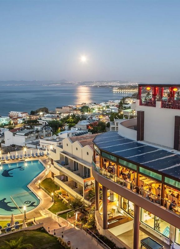 Chc Galini Sea View Hotel In Agia Marina Chania Crete A Luxury 150 Meters From The Lovely Sandy Beach Offering Great Views And Amazing