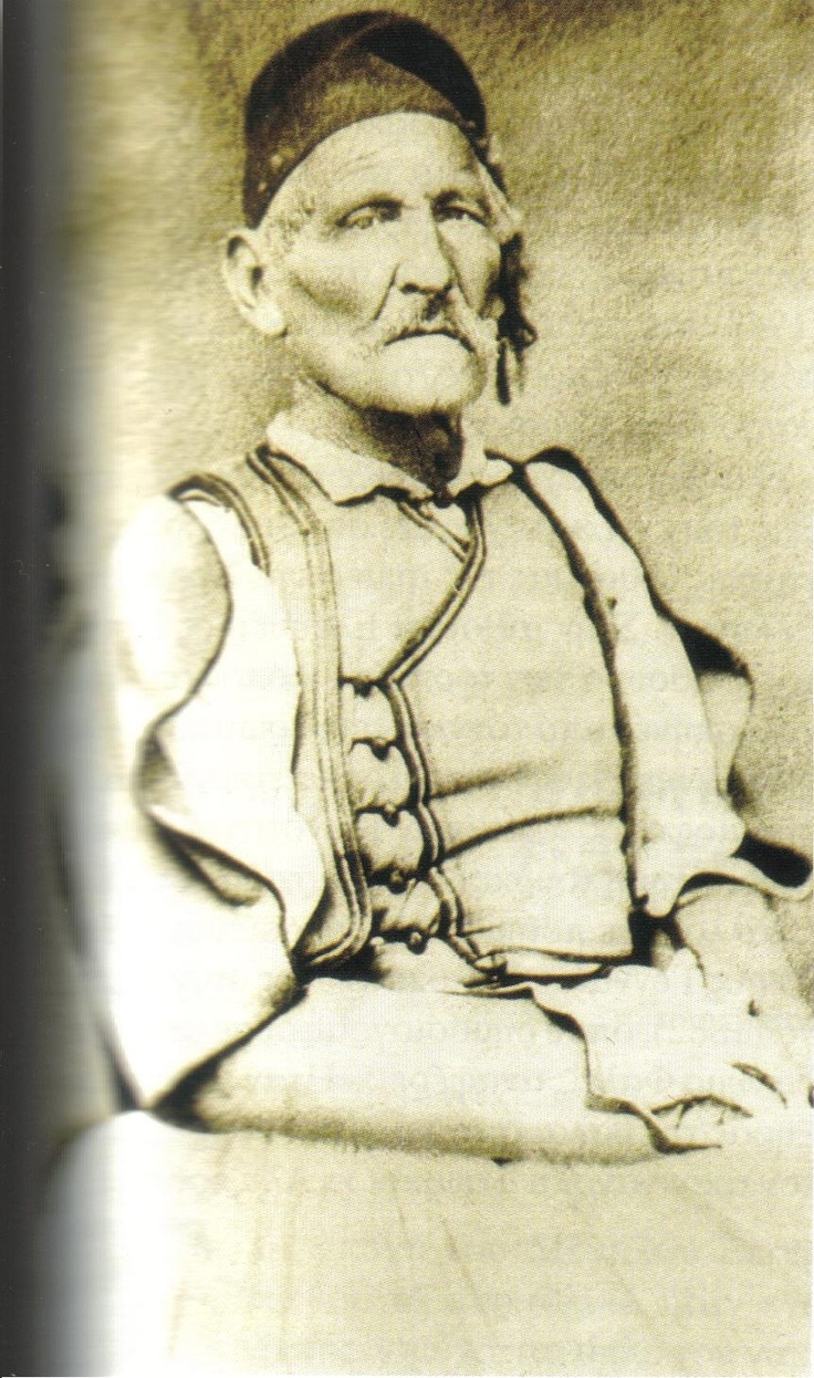 Ο Ιωάννης Θεοφιλόπουλος (1790-1885), φωτογραφημένος σε προχωρημένη ηλικία από τον Πέτρο Μωραΐτη (Εθνικό Ιστορικό Μουσείο Ελλάδας)