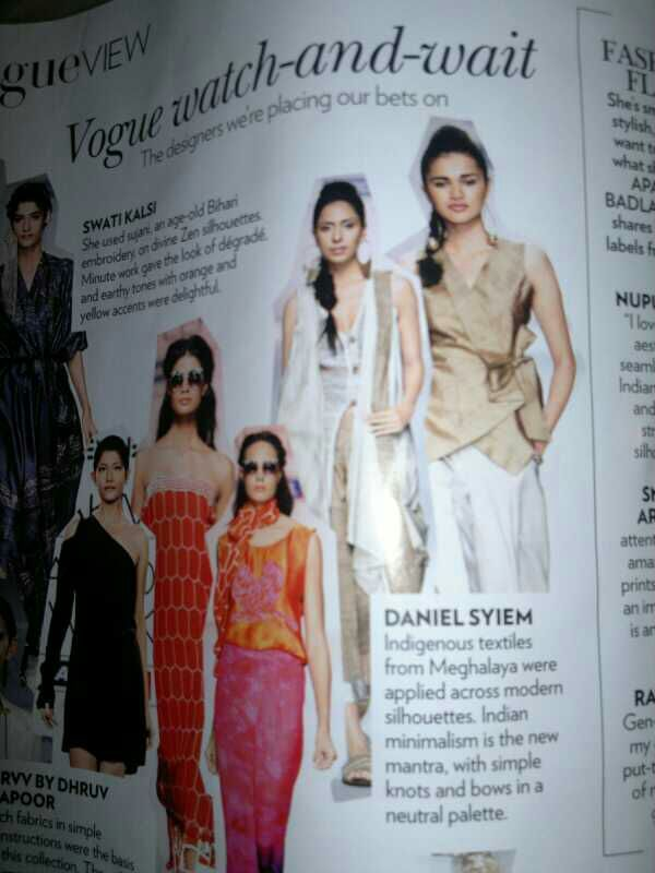 Daniel Syiem on Vogue India's watch and wait  list of 5 top designers to watch out for!