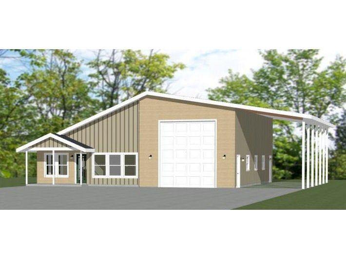1 Bedroom 1 Bath 1 RV 46x48 House 1,157 sqft Model 1A PDF Floor Plan