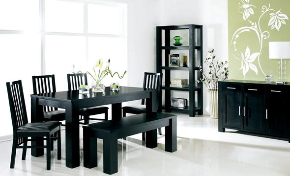 modern cuba black dining room furniture sets design by bentley...a bit small for what we need but I like the style