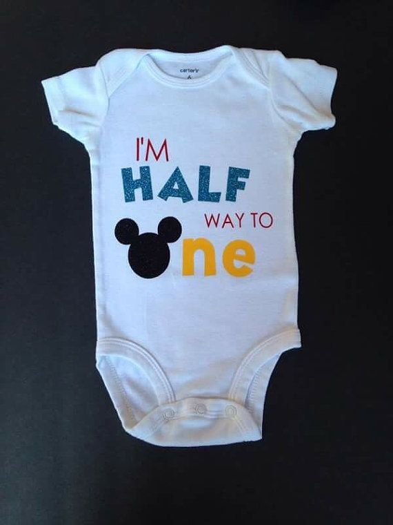 Half way to One halfway to one Mickey 6 month by FoxyLittleRascals