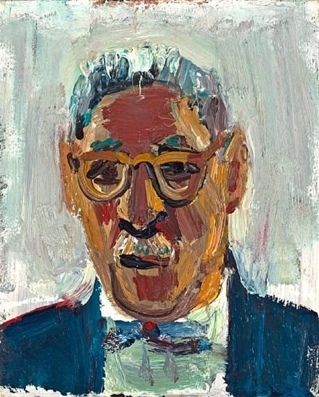 David Park - Portrait of Jack Loewenberg, 1958, 13 X 10.5 in.