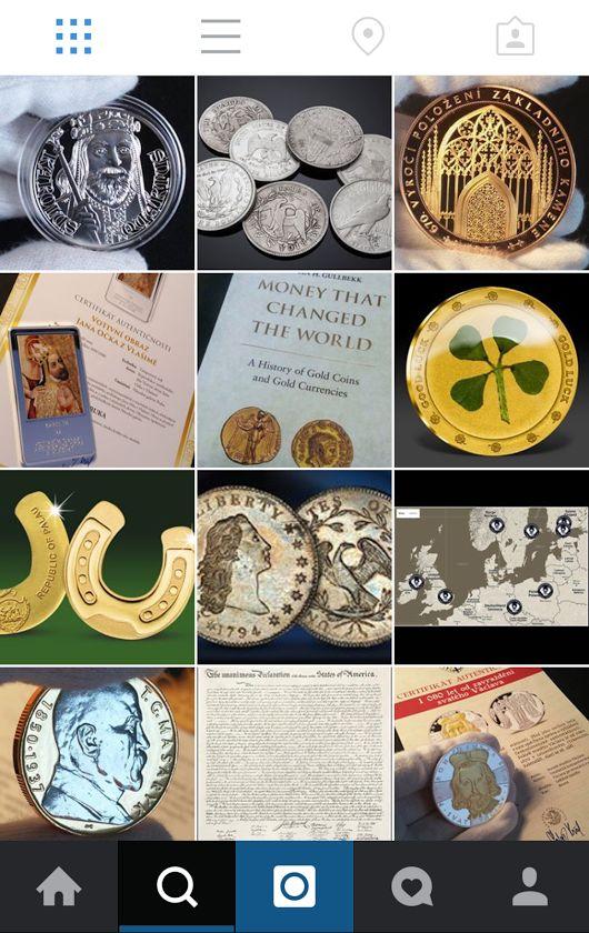 Oficiální profil Národní Pokladnice na Instagramu https://www.instagram.com/narodnipokladnice/ #coincollecting #instagram #news #coins #gold #silver #numismatics