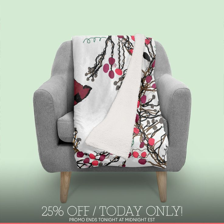 Discover «Winter Wreath and Cardinal», Exclusive Edition Throw Blanket by Deb Quigg - From $70 - Curioos