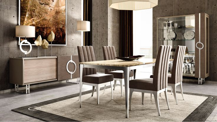 Contemporary design furniture for sophisticated dining room.  Brought by Concept by Caroti
