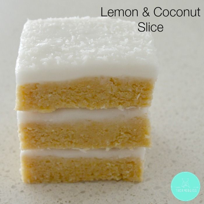 I decided it was the perfect time to convert my no bake lemon and coconut slice for my Thermomix after we had a pile of lemons sitting in our fruit bowl. Slice recipes really don't get much easier than this one, and within minutes the slice base will be ready to put into the tin. If you are like me a like an extra kick of lemon, add another teaspoon of lemon juice to the slice base - otherwise it's gorgeous as is.