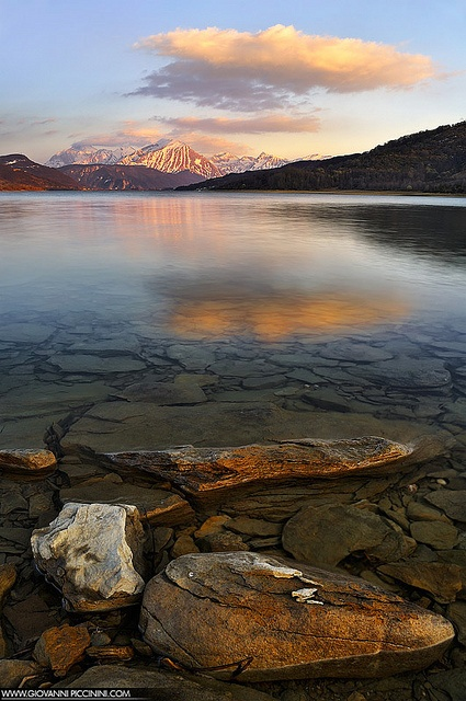 Parallel worlds - Campotosto Lake - ITAAB000174 by Giovanni Piccinini, via Flickr