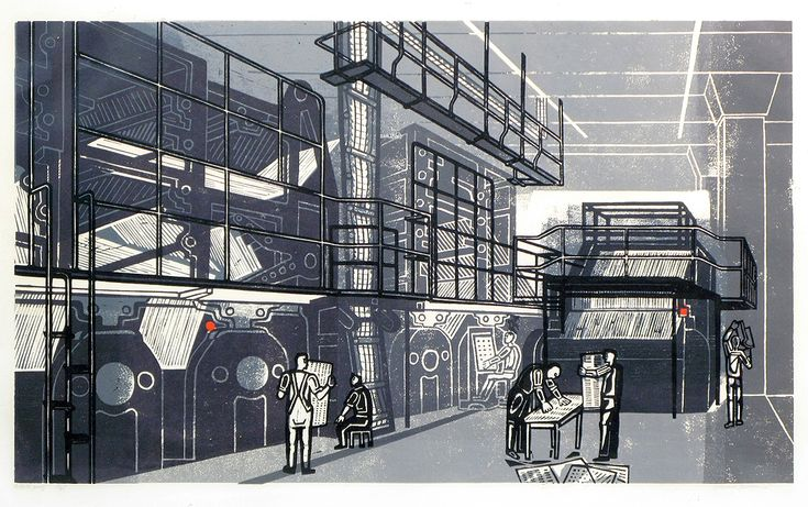 Edward Bawden - printing the Sunday TImes