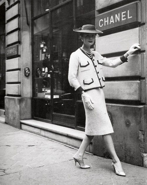 Chanel in Everywoman Magazine April 1959. Every girl's reference
