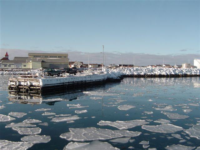 Port of Saint-Pierre during the winter, Saint Pierre and Miquelon