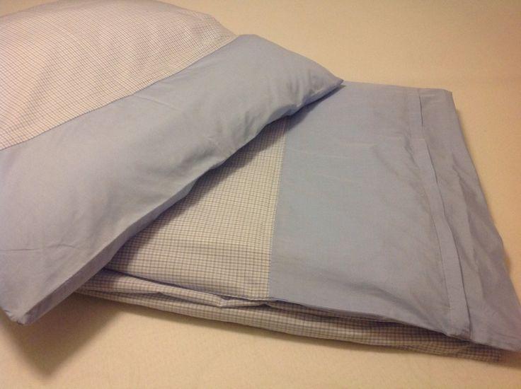 Bettwäsche,blau/ weiß, kleinkariert,135X200, 80x80 von HOMETEXTIL_FOR_YOU auf DaWanda.com