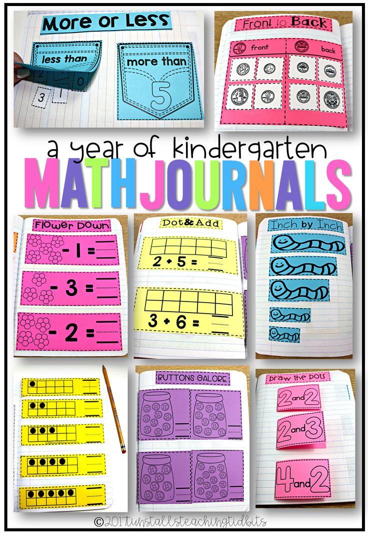 A year of kindergarten math journal activities, math interactive notebook for kindergarten