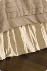 gorgeous ivory bed skirt in silk ~ how luxurious!