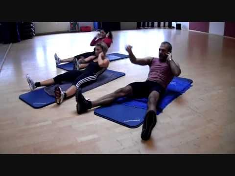 Killer P90x ab workout 8 minutes...goes through 11 moves and 25 reps a piece