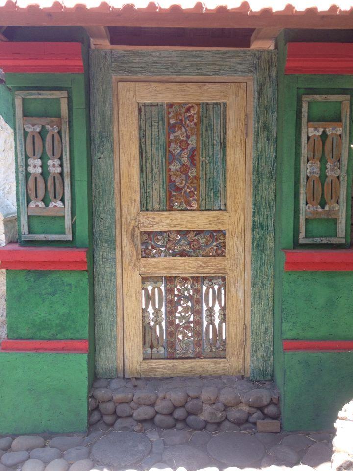 Temple lodge reclaimed wood door Bali