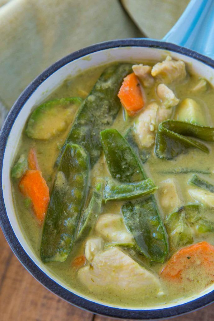 Easy thai green curry with coconut milk