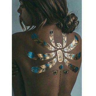 Mimi Elashiry's Festival Take on Gold Temporary Tattoos