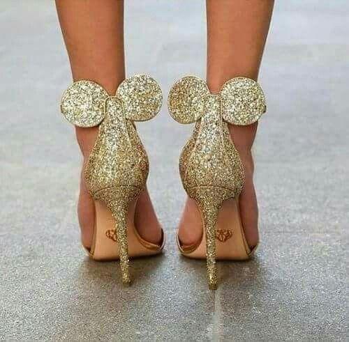 Oscar Tiye Gold Mickey Mouse Heels...