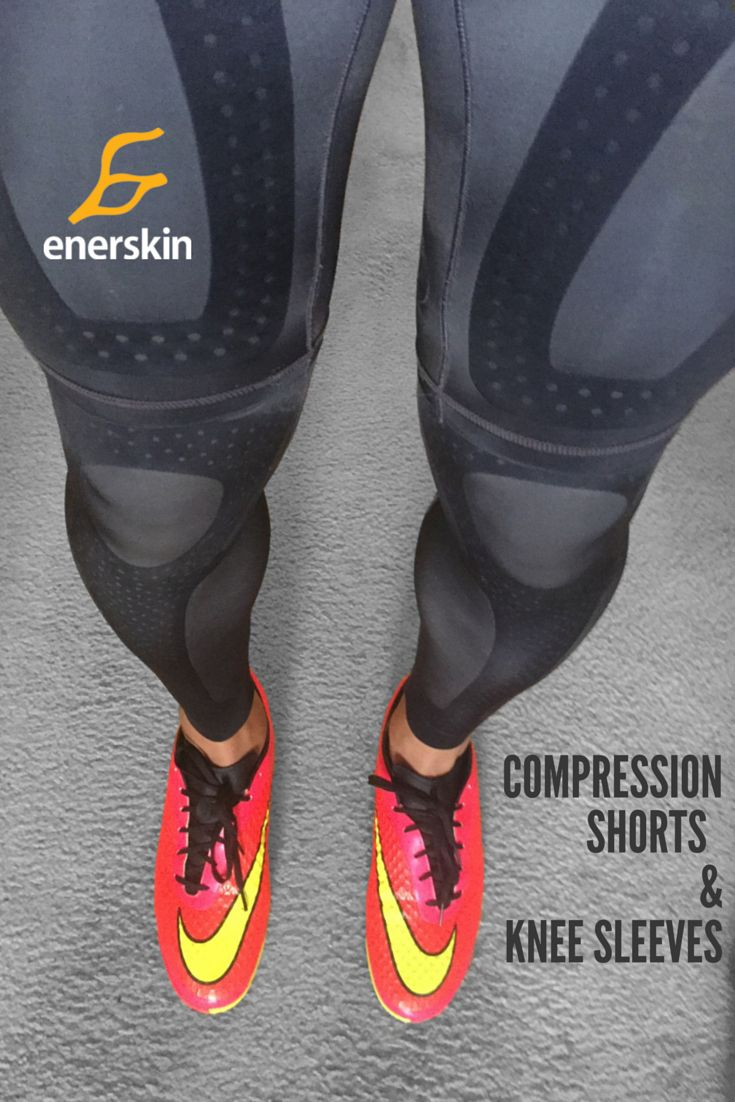 Enerskin compression knee sleeves reduce knee pain and swelling, strengthen knees and provide the best support for athletes of all sports. You can skip the muscle taping!
