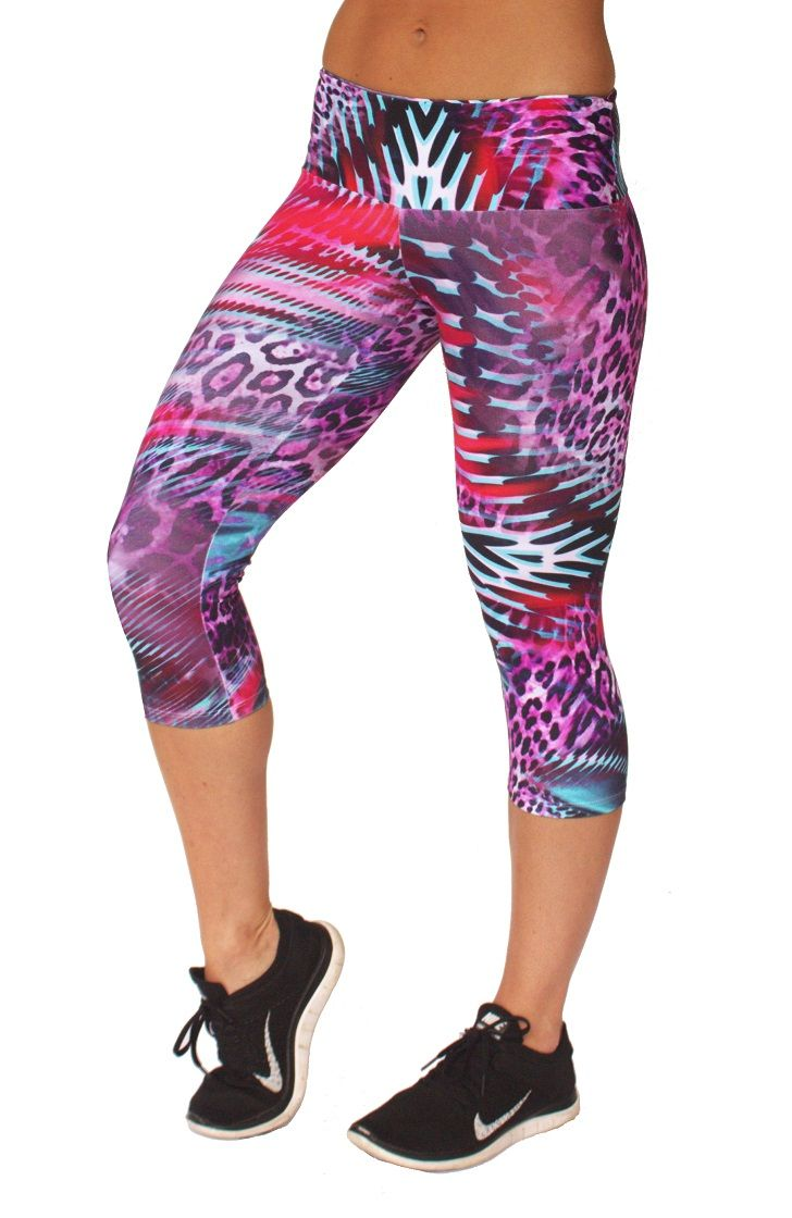 Rola Moca 'Wildcat' capri tights.  Specially designed 10cm wide waistband  with inbuilt elastic so no slipping or adjusting needed   Comfiest tights ever   Perfect for running or any activity   Shop now on www.runfastergear.com.au  #runfastergear #running #activewear