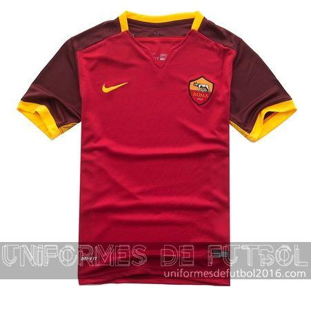 Venta de Jersey local para uniforme del as Roma 2015-16