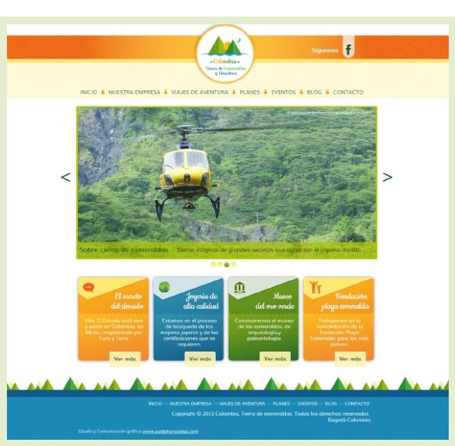 Diseño web Colombia, tierra de esmeraldas http://www.yuddyhernandez.com/portafolio/html/colombia-tierra-de-esmeraldas.html