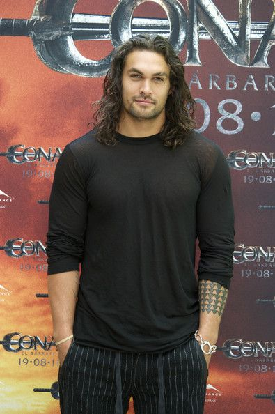 Jason Momoa ..Wow, with blue eyes, he would almost be the perfect Gideon..The hair is a little long for my taste but damn he's beautiful