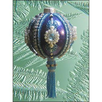 Christmas ornaments beaded ornament covers and beaded ornaments