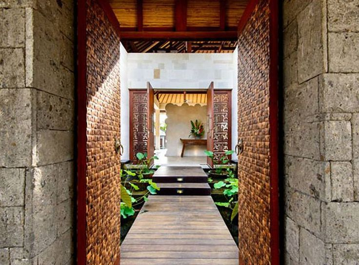 Modern, Tropical | Pathway| Saya Villa | Canggu, Bali | HG Architects