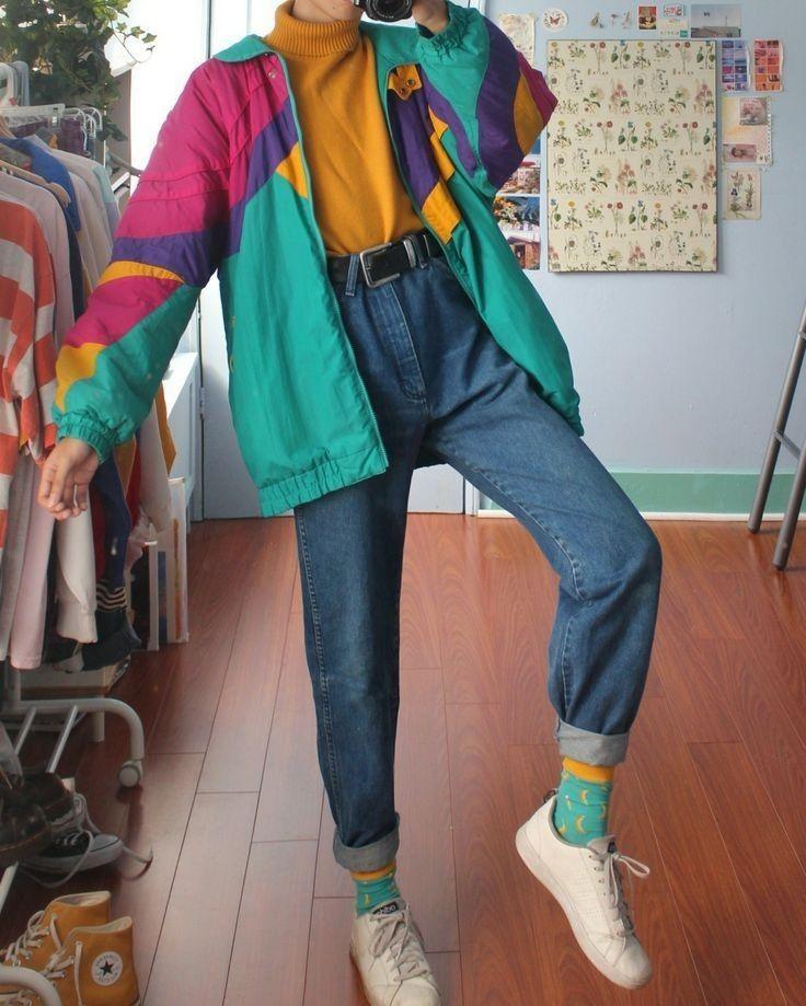 Outfit Retro De Los 80 Outfit Retro In 2020 Retro Outfits 90s Fashion Outfits Retro Fashion