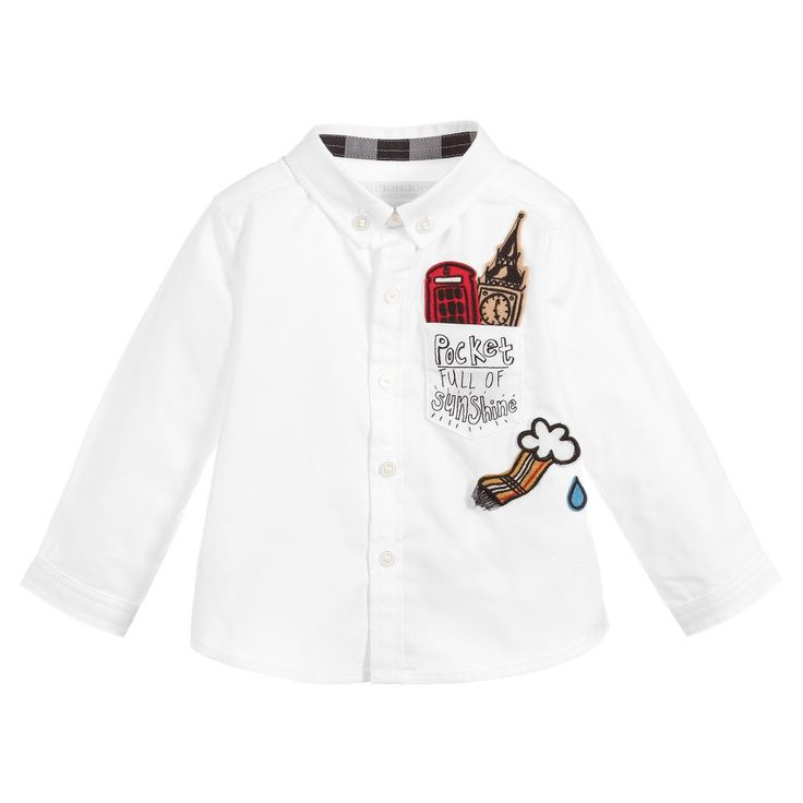 Burberry Little Boy London Icons Shirt  at Childrensalon.com