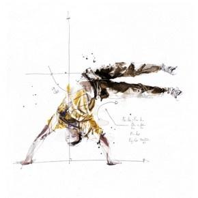 Technical Break Dance Illustrations by Florian Nicolle