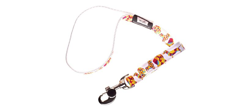 Dachshund Dog Leash White Brown..  grey, or black; short-haired, long-haired or wire-haired: all Dachshunds look fabulous with this WUFF leash. http://www.wuffcollars.com/en/item/Dachshund_Leash-121 Item Code: 121