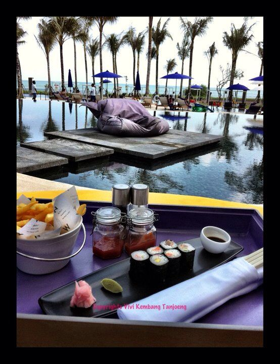 By the pool. W Hotel Bali.  What summer is all about. Honeymoon styles  #zimmermangoesto