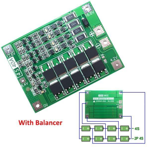 4s 40a Li Ion Lithium Battery 18650 Charger Pcb Bms Protection Board With Balance For Drill Motor 14 8v 16 8v Lipo Cell Module Sweet Casa Elektronik Elektrik