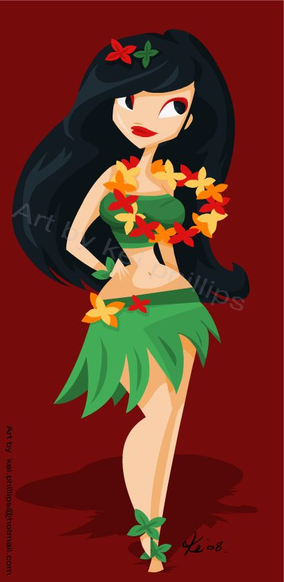 Hula girl by ~kinkei on deviantART