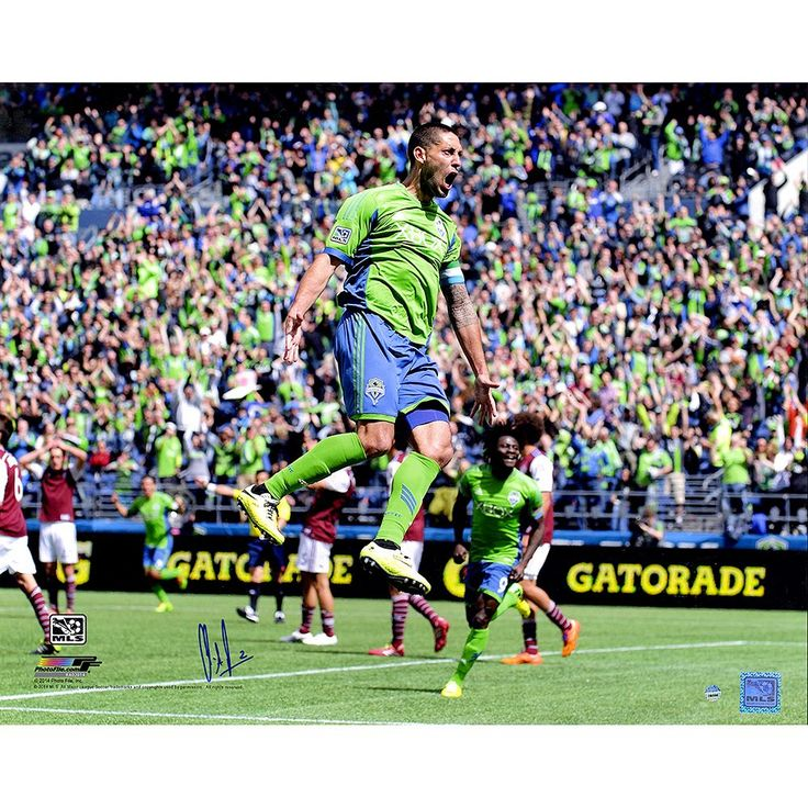 """Steiner Sports Seattle Sounders Clint Dempsey Celebration Signed 16"""" x 20"""" Photo, Multicolor"""