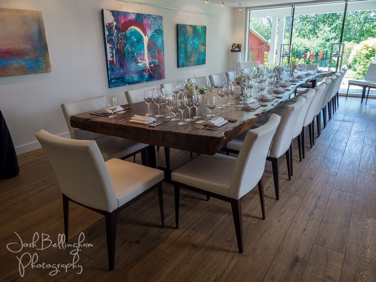 Beautiful room to have an intimate reception or gathering at 13th Street Winery. #JoshBellinghamPhotography