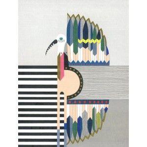 heron original art print by lisa lapointe available to buy online at Everything Begins.    #fineartprint #screenprint #art #artprint #artwork #artforsale #buyartonline #yellow  #pink #heron #bird #colourful #pencildrawing #artforinteriors #wallart #walldecor #gicleeprint #limitededition