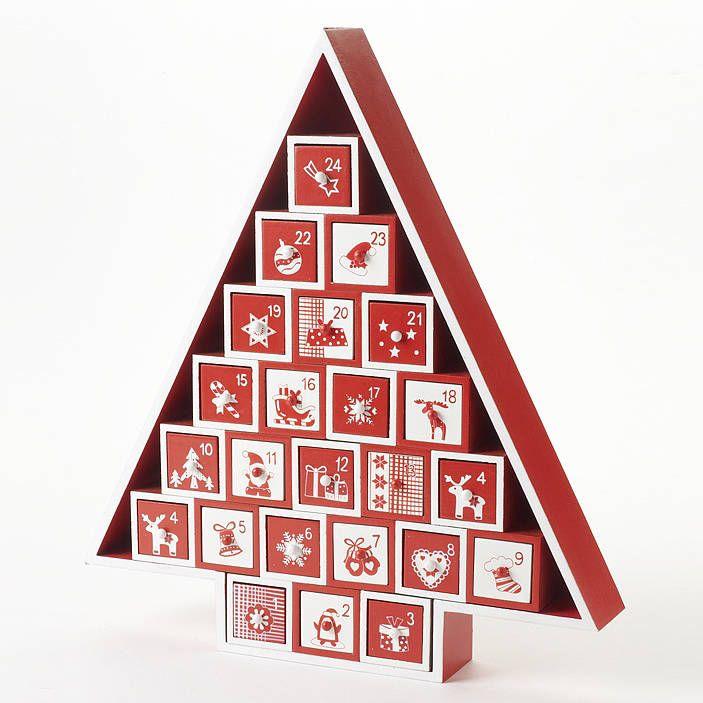Novel Advent Calendar Wooden Nordic Advent Tree Calendar