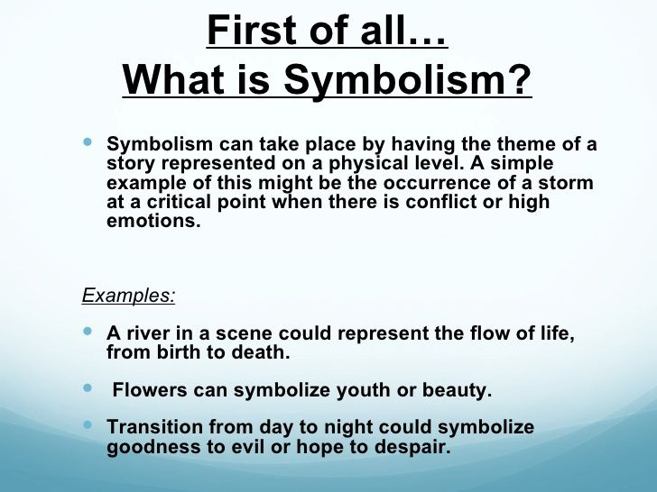 Symbolism In Film Powerpoint Theme Of A Story Essay Example Examples