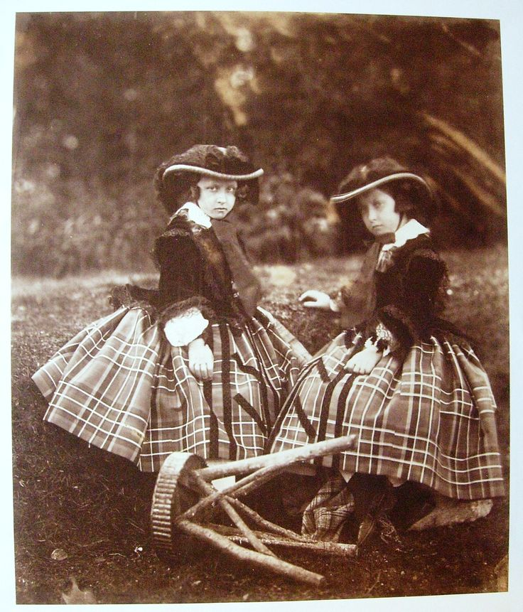 Princess Helena and Princess Louise, Balmoral: The two princesses look straight at the camera in what is an unusually direct pose. Princess Helena (1846-1923) and Princess Louise (1848-1939) were the fifth and six children of Queen Victoria and Prince Albert. Princess Helena was herself a keen collector of photographs and compiled a number of albums commemorating her many visits to Balmoral